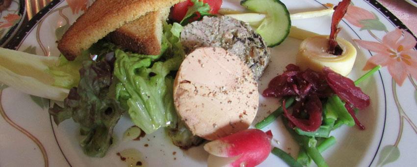 Salade de foie gras et écrevisses