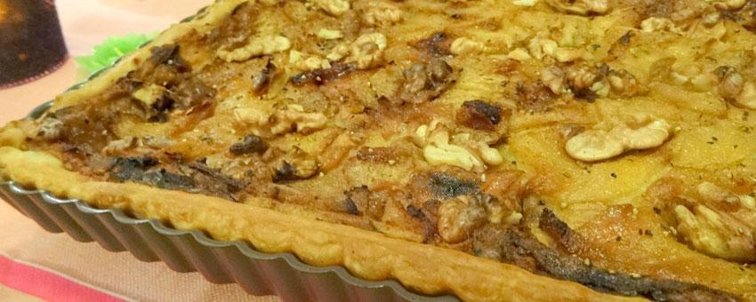 Tarte au Roquefort et aux noix