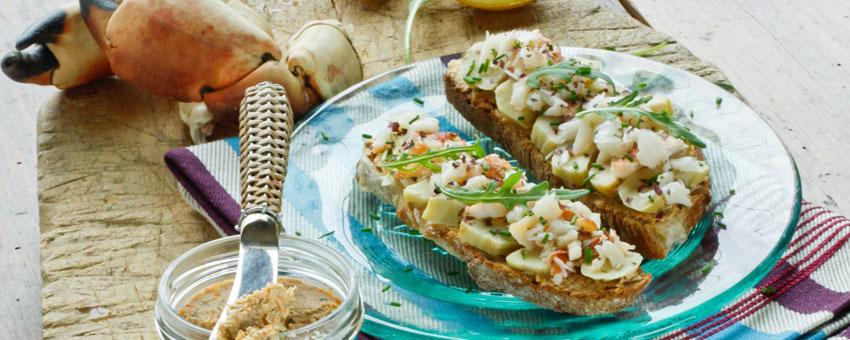 Artichauts au crabe