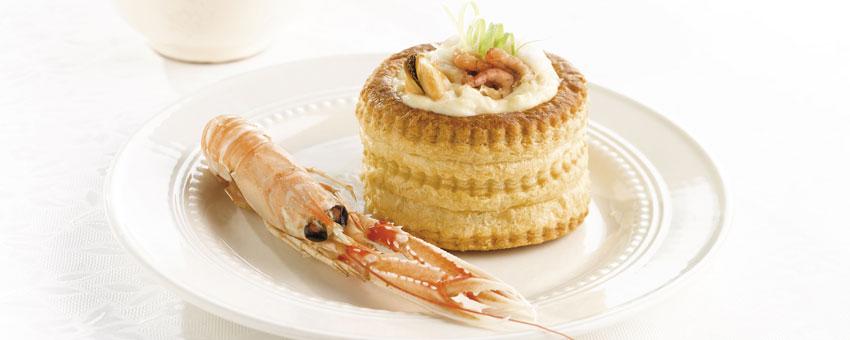 Bouchées aux fruits de mer