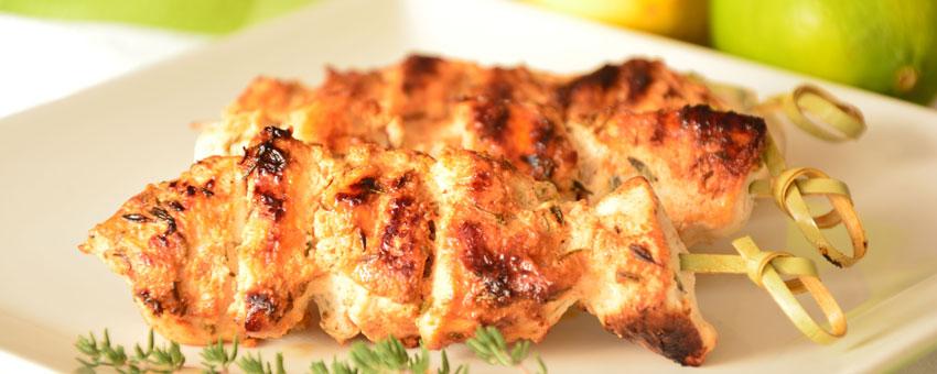 Brochettes de poulet au yahourt