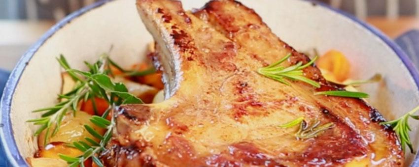 Côtes de veau aux échalotes
