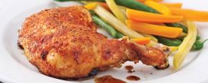 Cuisses de poulet gratinées