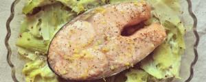 Darnes de saumon en gelée