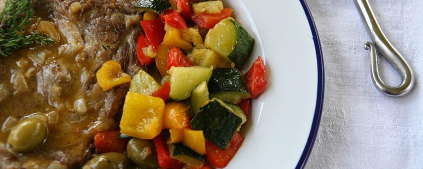 Echine de porc aux olives
