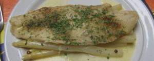 Filets de limande à la sauce verte