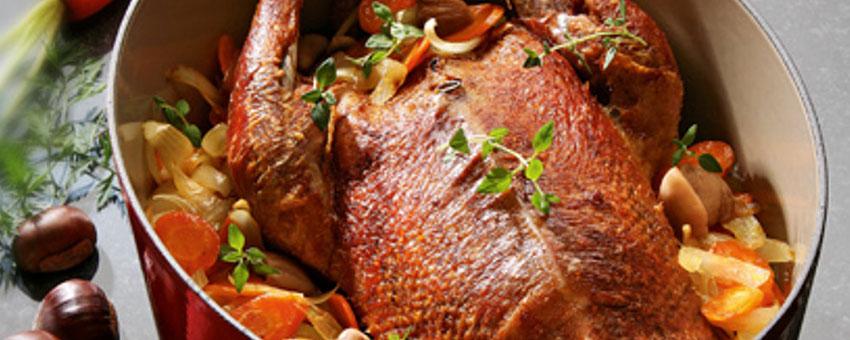 Oie aux marrons