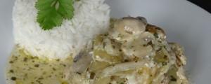 Poule au riz à l'estragon