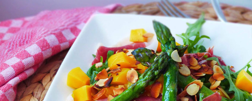 Salade de crustacés aux asperges