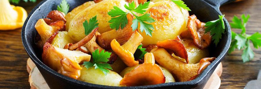 Déguster un bon plat d'automne